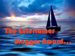 the entertainer blogger award